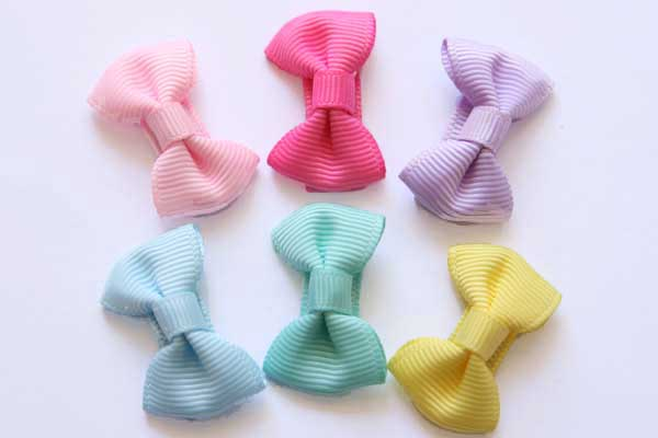 Baby Snap Clips Baby Bows Set of 6