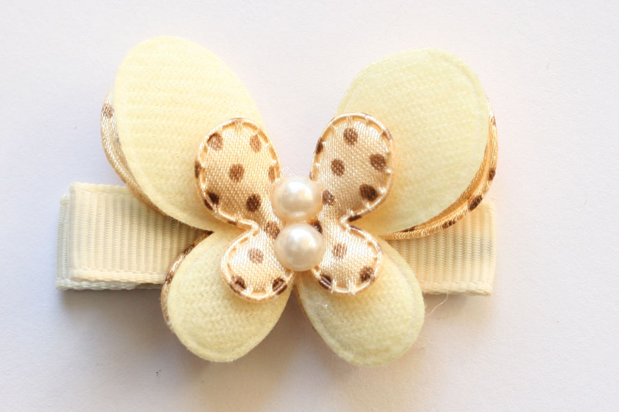 Double-Layered Ivory Dots Butterfly