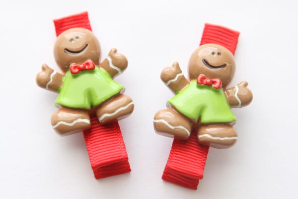 Christmas Resin Clips - Gingerbread Man