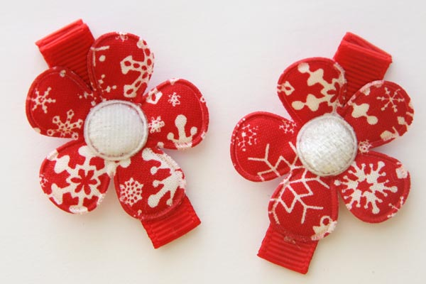 Christmas Snowflake Flower Red