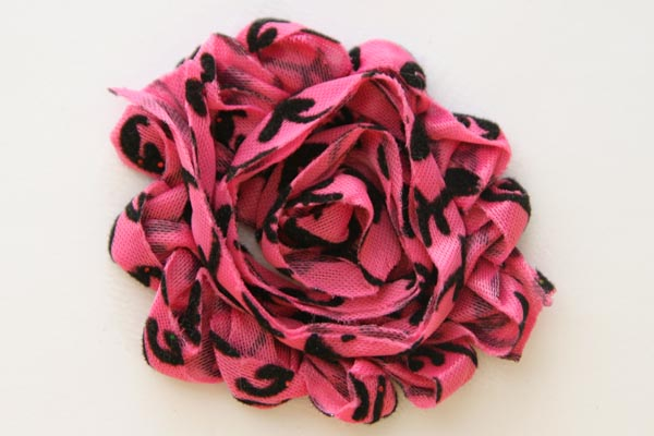 Shabby Chic Flowers Hot Pink and Black Damask
