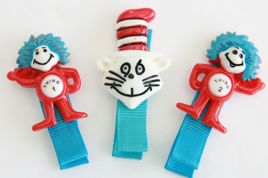 Cat in the Hat/Thing 1/Thing 2 SET OF 3 CLIPS